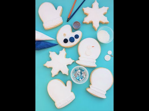 snow cookie decorating kit tutorial colormycookie.com