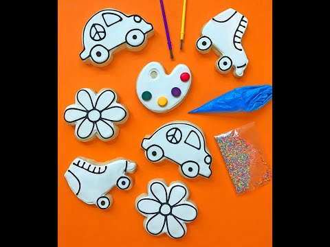 flower cookie decorating kit tutorial colormycookie.com
