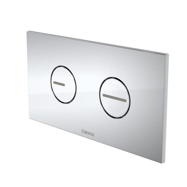Caroma Invisi Series II Round ABS Dual Flush Plate | Chrome