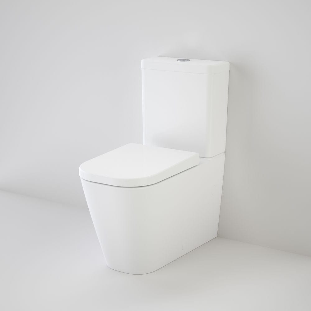 Caroma Luna Cleanflush Square Wall Faced Toilet Suite