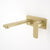 Caroma Luna Wall Basin/Bath Mixer 210mm | Brushed Brass