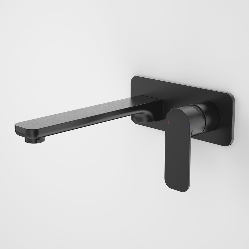 Caroma Luna Wall Basin/Bath Mixer 210mm | Satin Black