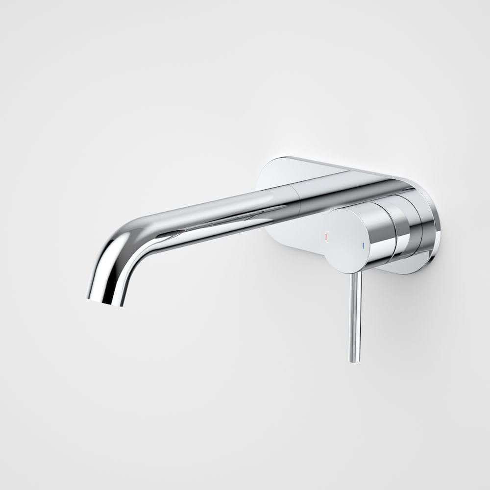 Caroma Liano II Wall Basin/Bath Mixer on Backplate 175mm | Chrome