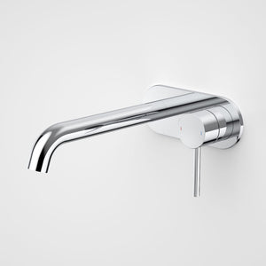 Caroma Liano II Wall Basin/Bath Mixer on Backplate 210mm | Chrome