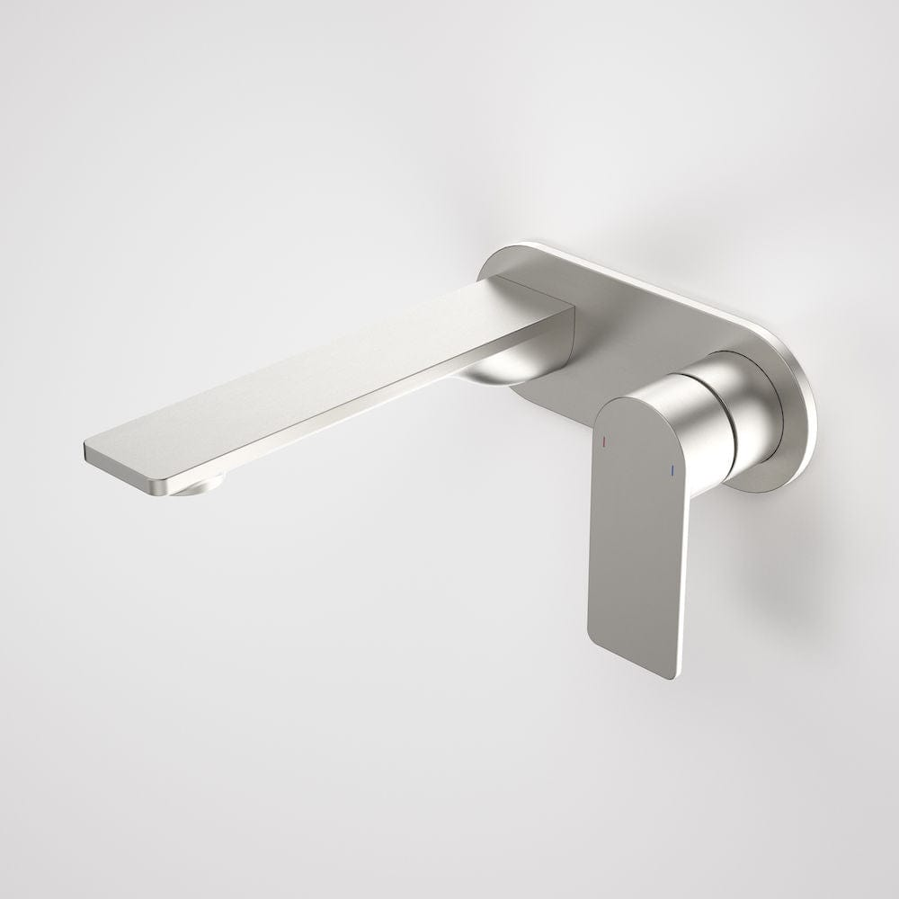 Caroma Urbane II Round Wall Basin/Bath Mixer 180mm | Brushed Nickel
