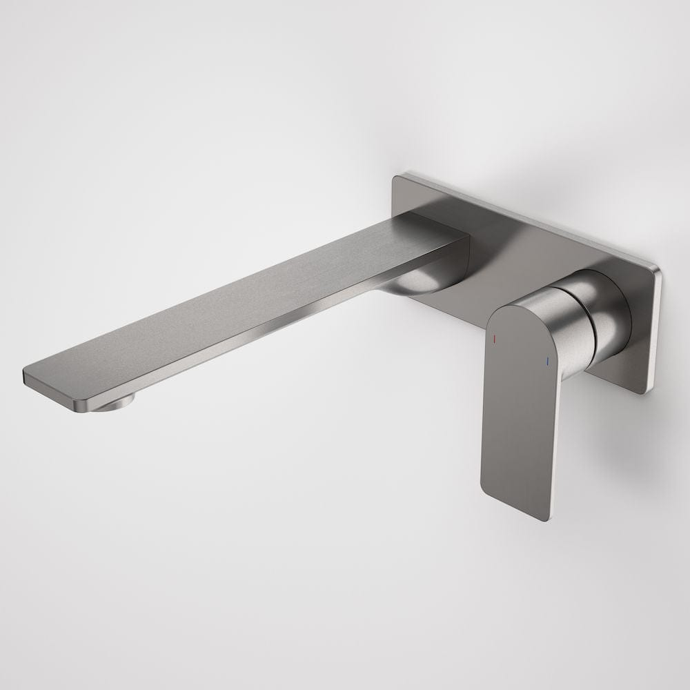 Caroma Urbane II Rectangular Wall Basin/Bath Mixer 220mm | Gunmetal