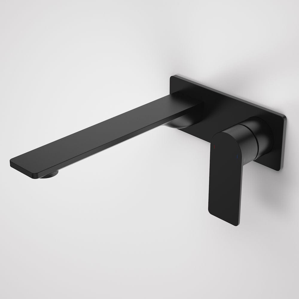 Caroma Urbane II Rectangular Wall Basin/Bath Mixer 220mm | Matte Black