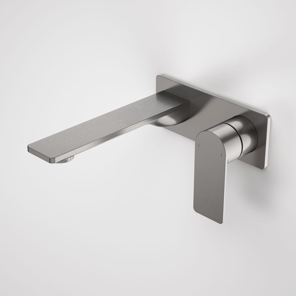 Caroma Urbane II Rectangular Wall Basin/Bath Mixer 180mm | Gunmetal