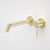Caroma Liano II Wall Basin/Bath Mixer 210mm | Brushed Brass