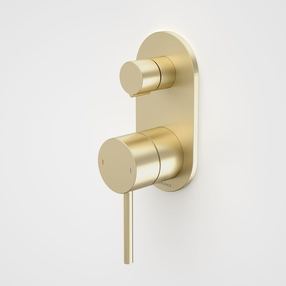 Caroma Liano II Bath/Shower Mixer with Diverter | Brushed Brass