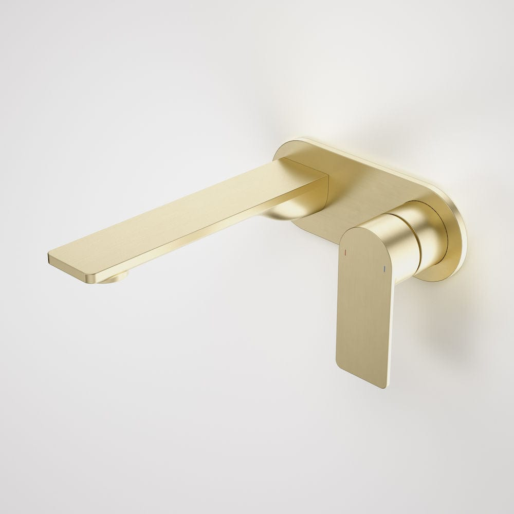 Caroma Urbane II Round Wall Basin/Bath Mixer 180mm | Brushed Brass
