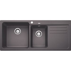 Blanco Silgranit Naya 8S Double Sink with Drainer | Rock Grey
