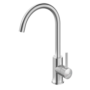 Methven Minimalist Gooseneck Sink Mixer | Stainless Steel