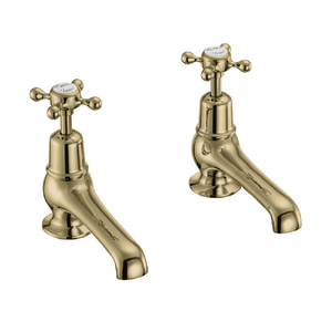 Burlington Claremont 12.5cm Basin Taps | Gold