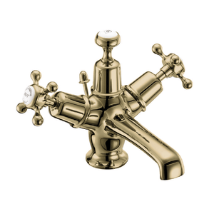 Burlington Claremont Basin Mixer with Pop Up Waste | Gold