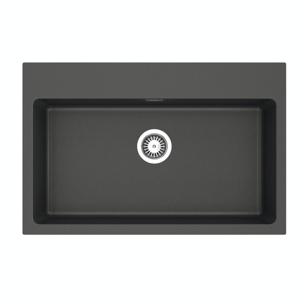 Sergio Granite 720 Single Sink | Black
