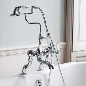 Burlington Kensington Deck Mounted Bath/Shower Mixer | Chrome