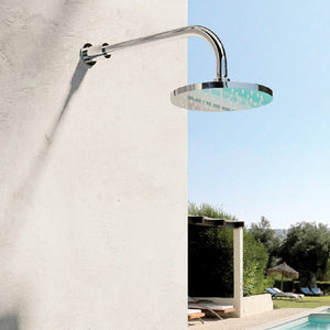 Fontealta Waterline Outdoor Wall Mount Rain Head | 316 Stainless Steel