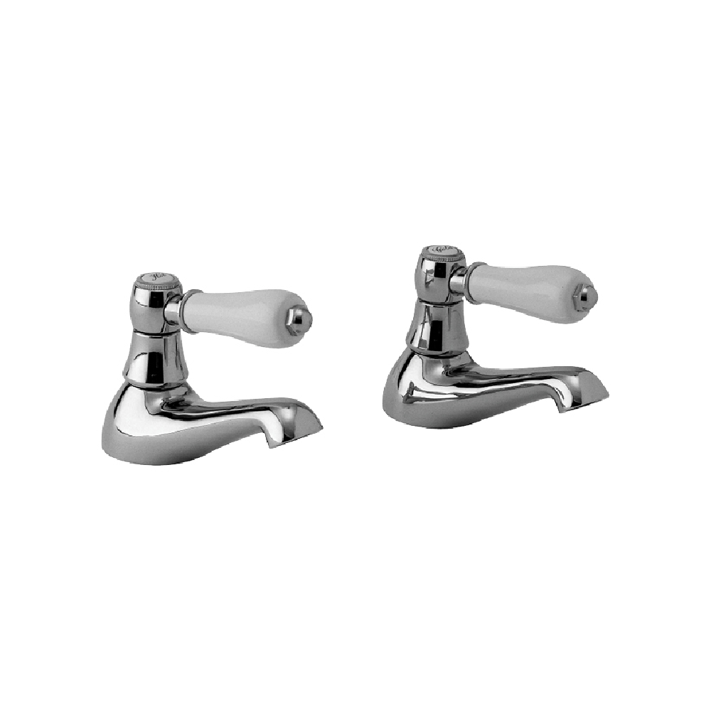 McKinley Consort 15mm Basin Tap Pair | Chrome