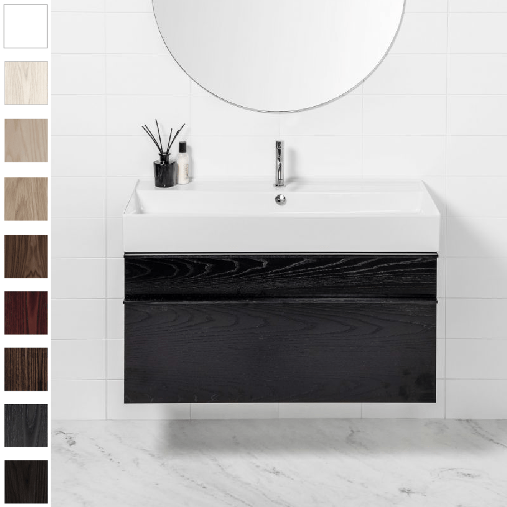 Michel César Twenty 1010 Wall-Hung Vanity | Single Bowl & 2 Drawers