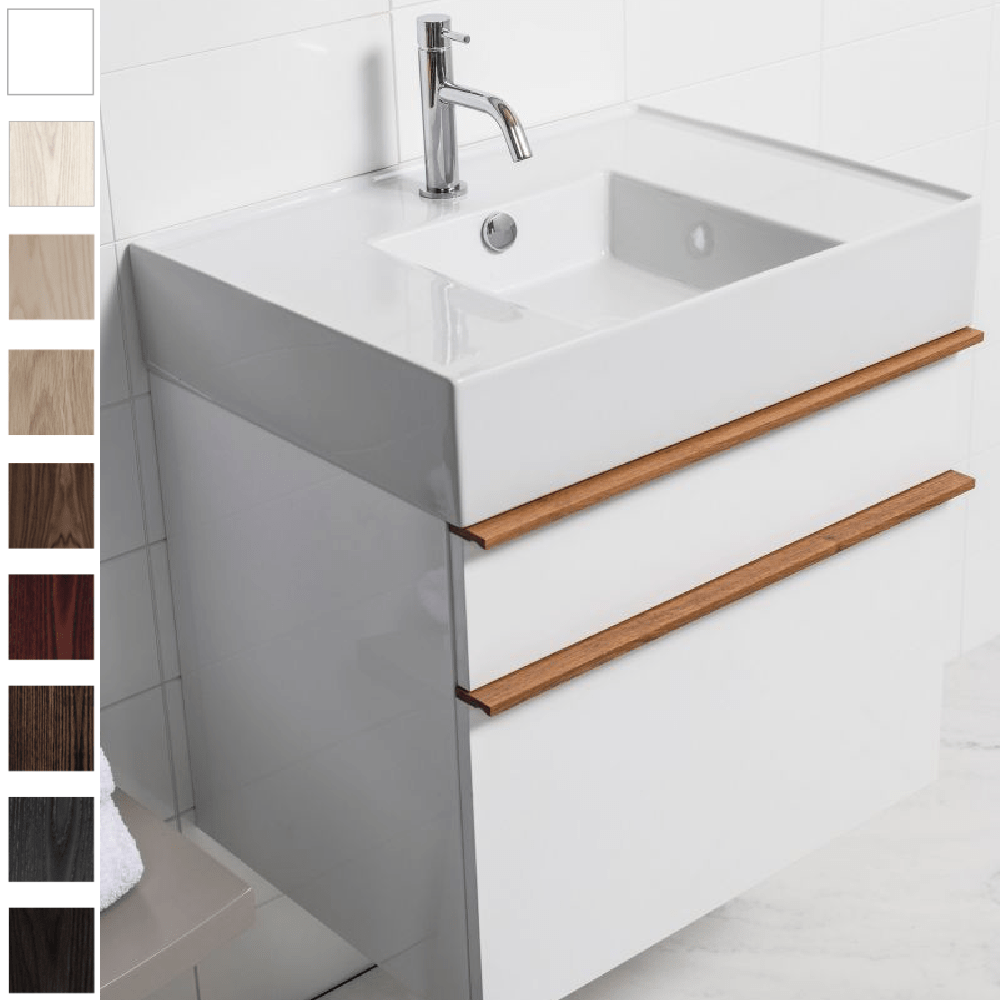 Michel César Twenty 610 Wall-Hung Vanity | Single Bowl & 2 Drawers