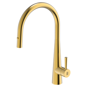 Burns & Ferrall PearlArc Cignus Kitchen Mixer with Pull Out Spray | Eureka Gold