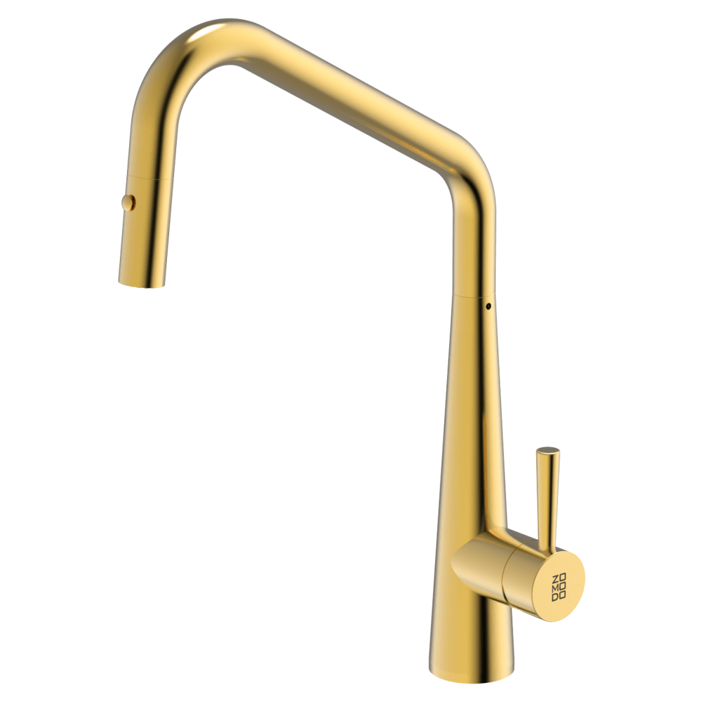 Burns & Ferrall PearlArc Orizuro Kitchen Mixer with Pull Out Spray | Eureka Gold