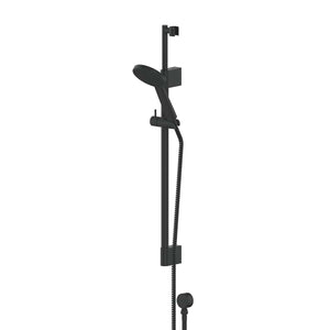 Greens Glide RainBoost Telescopic Rail Shower | Matte Black