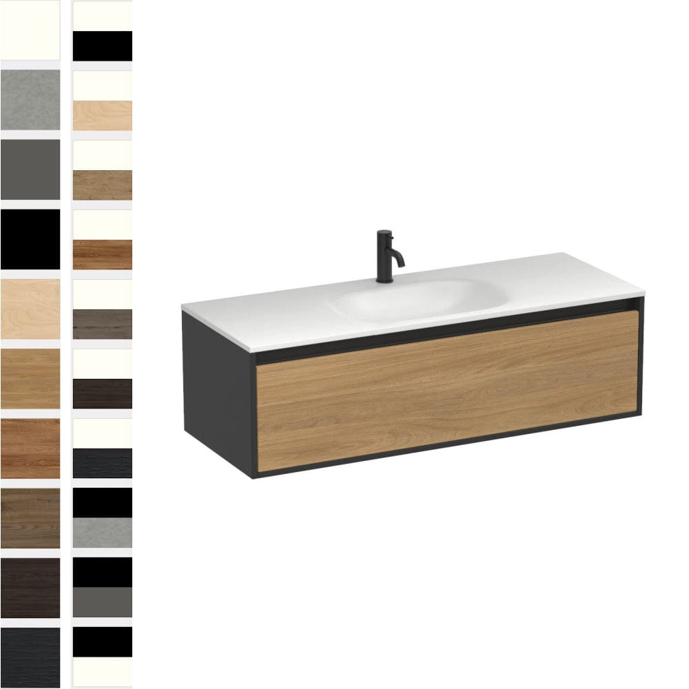 Prava Spio 1200mm 1 Drawer Centre Basin Vanity