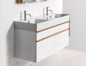 Michel César Twenty 1210 Wall-Hung Vanity | Double Bowl & 4 Drawers