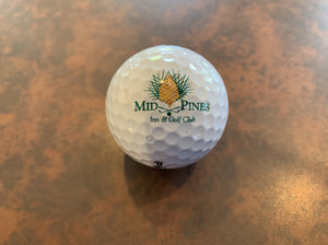 Mid Pines Logo Golf Ball