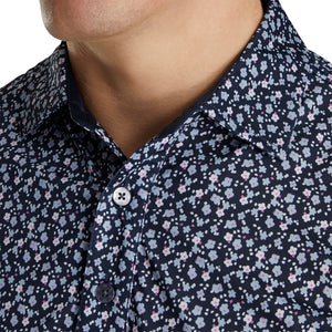 FJ Lisle Flower Print Self Collar