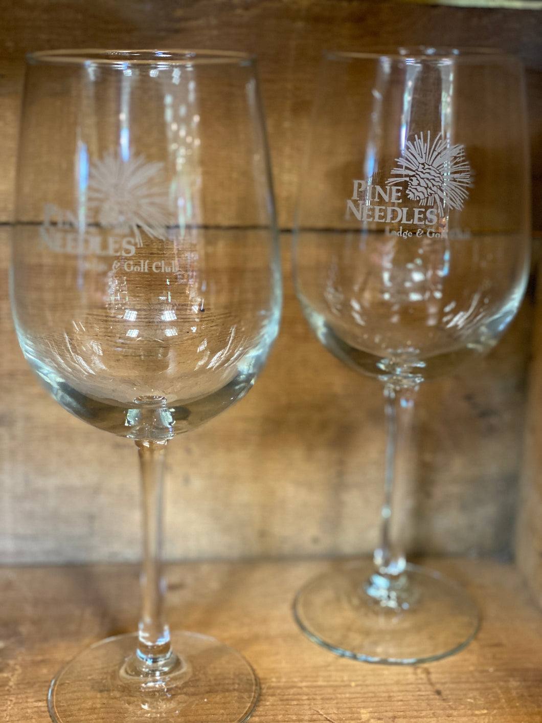 Pine Needles Wine Glass