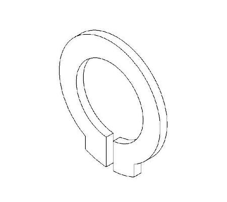 10454-04 RING RETAINING, EXTERNAL, 6mm
