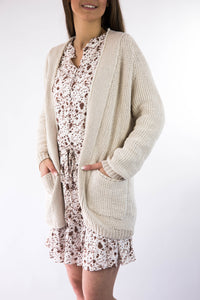 STAGE73 - EsQualo Strickjacke Creme