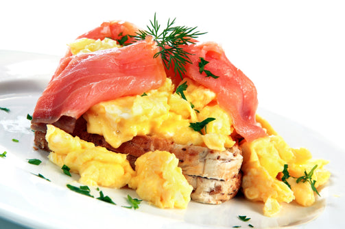 Scrambled egg and Smoked Salmon - Street Cafe St Albans