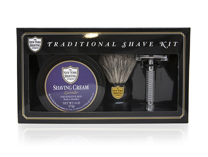 Lavender Traditional Shave Kit