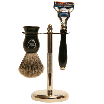 Black Victorian Fusion Shaving Set