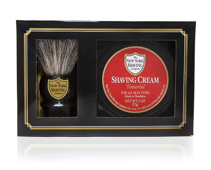 Tonsorial Shaving Cream and Brush Kit