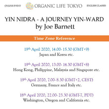 Load image into Gallery viewer, [Online] YIN NIDRA – A JOURNEY YIN-WARD by Joe Barnett 19th April, 14:00-15:30 (GMT+9)