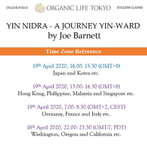 [Online] YIN NIDRA – A JOURNEY YIN-WARD by Joe Barnett 19th April, 14:00-15:30 (GMT+9)