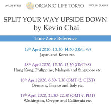 Load image into Gallery viewer, [Online] SPLIT YOUR WAY UPSIDE DOWN by Kevin Chai 18th April, 13:30-14:30 (GMT+9)