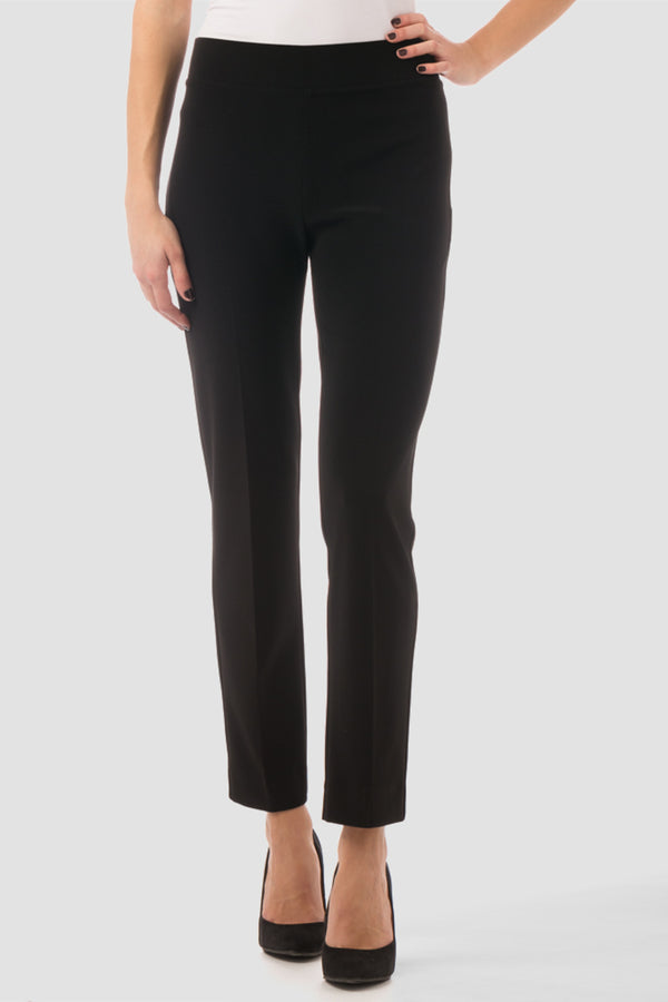 Back Slit Basic Pant - BLACK