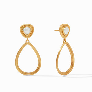 Barcelona Statement Earring Gold Pearl