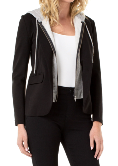 Bf Blazer W/Removable Hood - BLACK