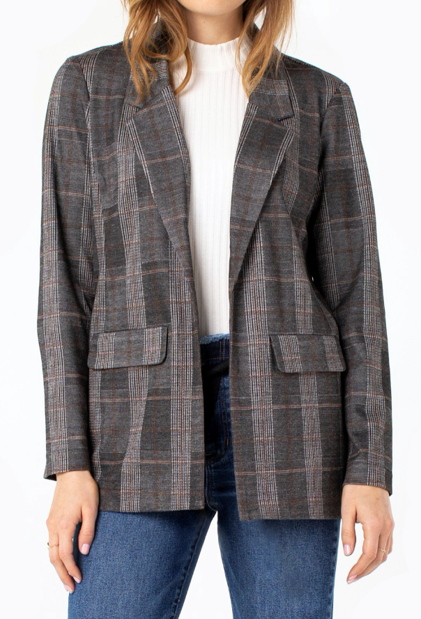 Boyfriend Blazer - CR/TAN/B