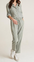 Load image into Gallery viewer, Button Front Roll Slv Jumpsuit - SOFTARMY