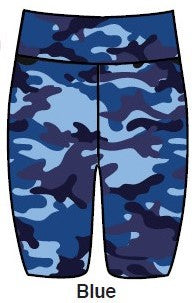 Camo Bike Short - BLUE