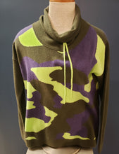 Load image into Gallery viewer, Camo Cashmere Funnel Neck - ARMY