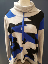 Load image into Gallery viewer, Camo Cashmere Funnel Neck - SILVER